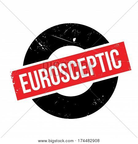 Eurosceptic rubber stamp. Grunge design with dust scratches. Effects can be easily removed for a clean, crisp look. Color is easily changed.