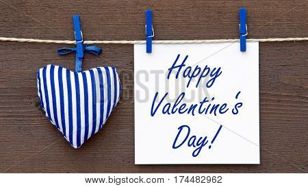 Happy Valentines Day - paper with text and heart