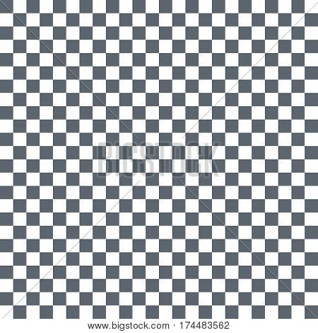 Grey White Squares. Chess Background. Abstract Lattice. Vector Illustration.