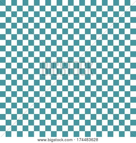 Blue White Squares. Chess Background. Abstract Lattice. Vector Illustration.