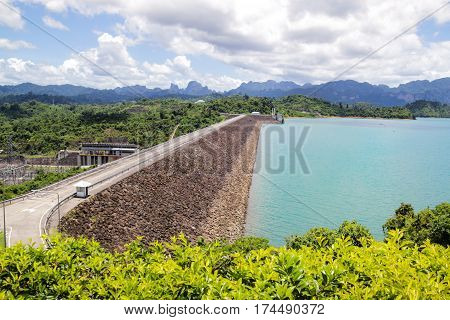 Hydroelectric power plant - Ratchaprapha Dam in Surat Thani Thailand