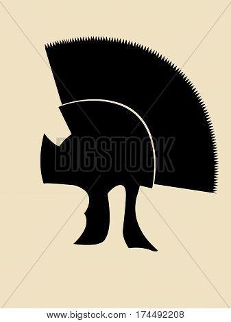 Simple symbol illustration of roman general helmet