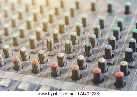 Sound mixer controller, Close up sound mixer