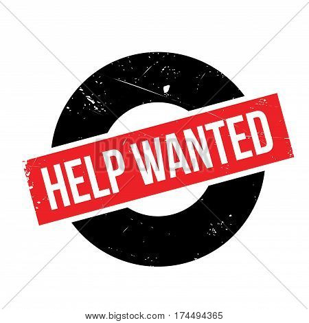 Help Wanted rubber stamp. Grunge design with dust scratches. Effects can be easily removed for a clean, crisp look. Color is easily changed.