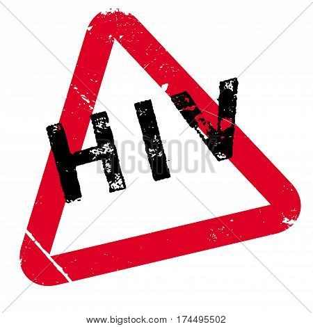HIV rubber stamp. Grunge design with dust scratches. Effects can be easily removed for a clean, crisp look. Color is easily changed.