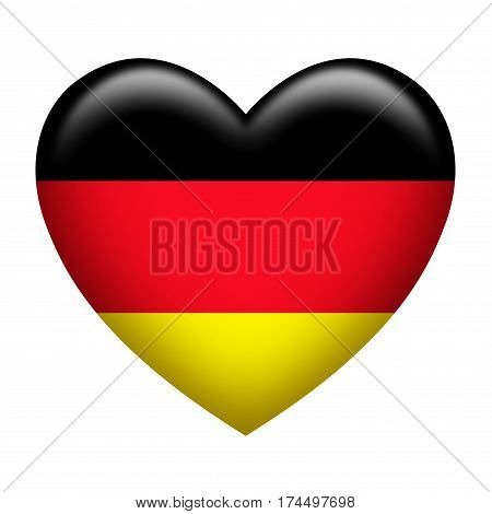 Heart shape of Germany insignia isolated on white