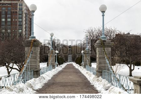 A winter day in the Boston Garden