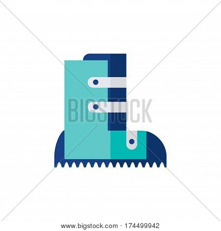 Winter boots isolated icon on white background. Snow boots. Flat vector illustration design.