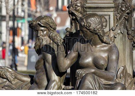 The Brewer Fountain, Boston, Massachusetts, February 2017