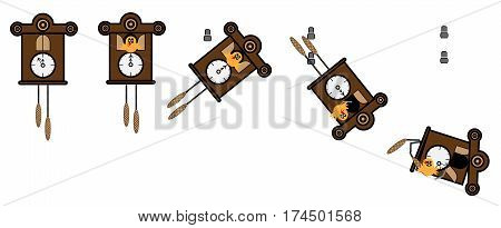 Cuckoo Clock fall of the wall and shatters