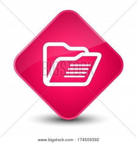 Folder Icon Elegant Pink Diamond Button