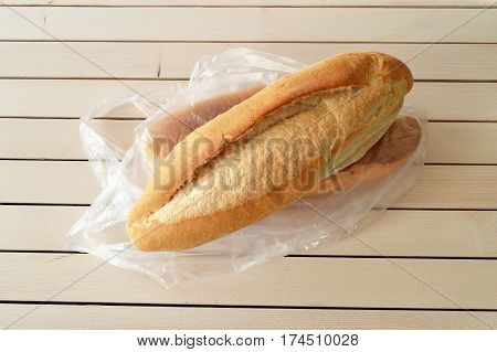 Bag of salmon in the oven bread, turkish bread, fresh hot bread, delicious wheat bread, baked bread with wood,