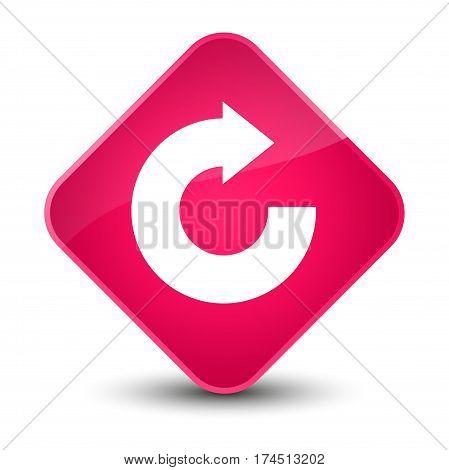 Reply Arrow Icon Elegant Pink Diamond Button