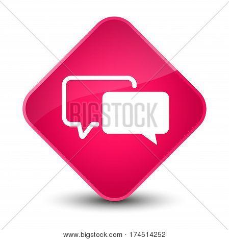 Testimonials Icon Elegant Pink Diamond Button