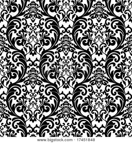 Decorativo rinascimentale sfondo bianco e nero
