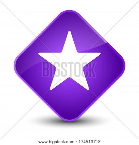 Star Icon Elegant Purple Diamond Button