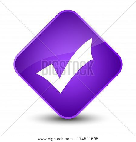 Validation Icon Elegant Purple Diamond Button
