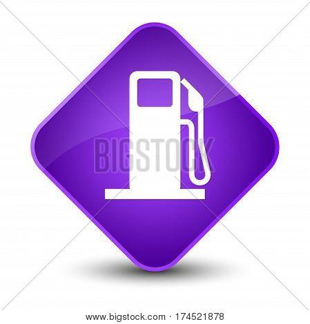 Fuel Dispenser Icon Elegant Purple Diamond Button