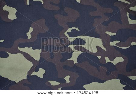 Textile Pattern Of Military Camouflage Fabric