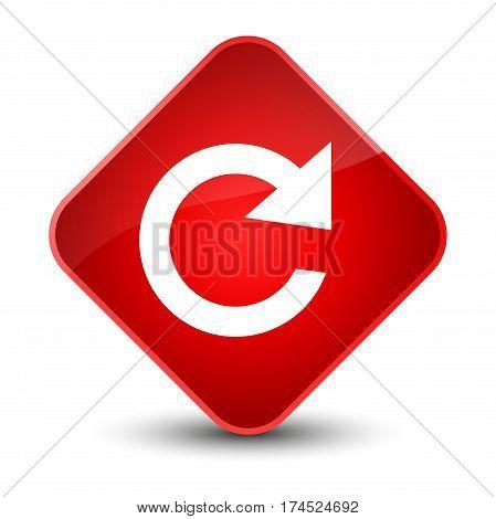 Reply Rotate Icon Elegant Red Diamond Button