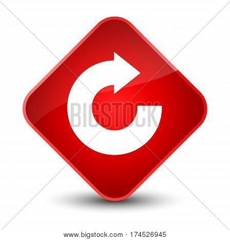 Reply Arrow Icon Elegant Red Diamond Button