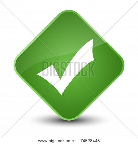 Validation Icon Elegant Soft Green Diamond Button