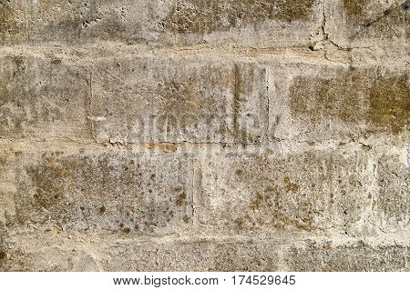 Old White Block Wall