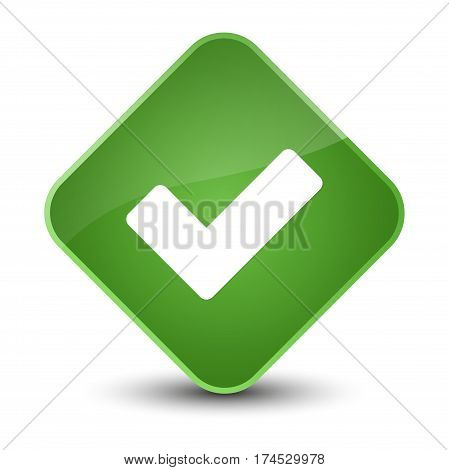 Validate Icon Elegant Soft Green Diamond Button