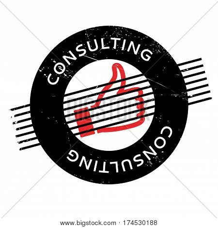 Consulting rubber stamp. Grunge design with dust scratches. Effects can be easily removed for a clean, crisp look. Color is easily changed.