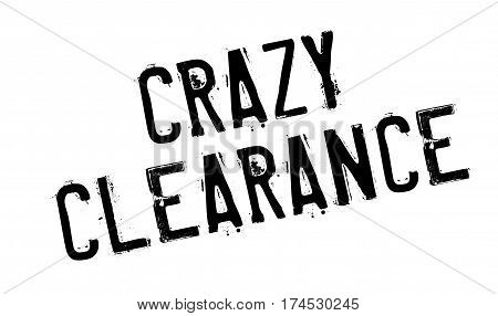 Crazy Clearance rubber stamp. Grunge design with dust scratches. Effects can be easily removed for a clean, crisp look. Color is easily changed.