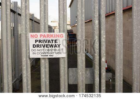 Locked Security Gates
