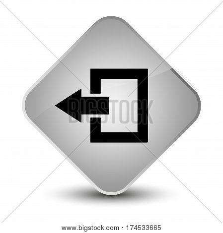 Logout Icon Elegant White Diamond Button