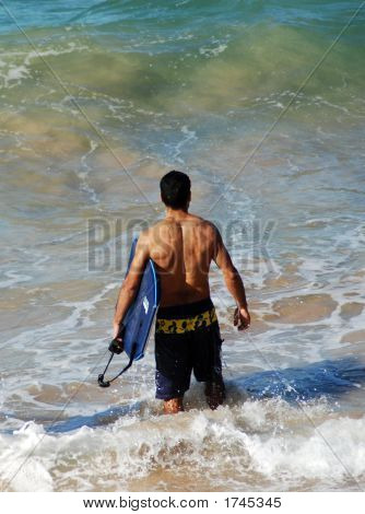 A Man Is Going To Surf