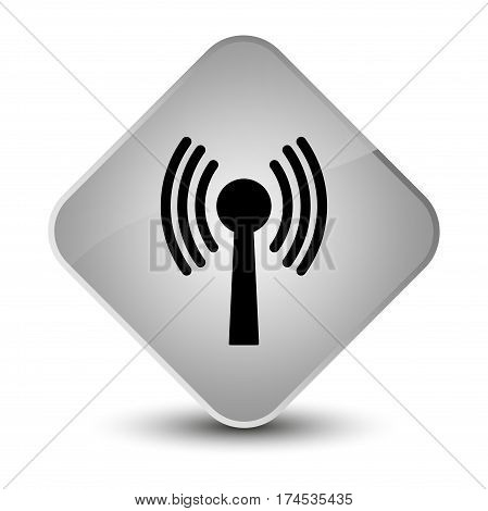 Wlan Network Icon Elegant White Diamond Button