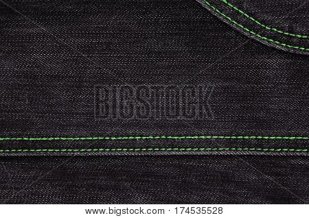 The Texture Of Black Denim Cloth