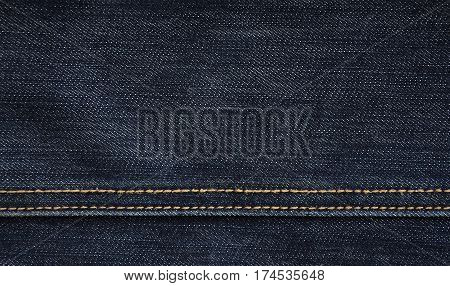 The Texture Of Black Denim Cloth