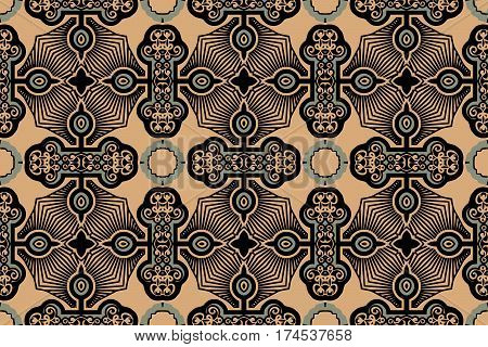 on an abstract background texture vintage color openwork pattern of geometric elements of the Victorian style figures