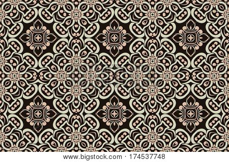 abstract symmetrical pattern art deco elements of geometric figures on a light background