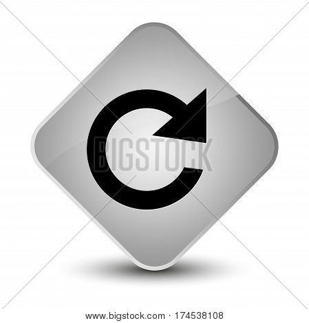 Reply Rotate Icon Elegant White Diamond Button