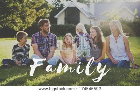 Family Happiness Memorable Outdoors Word