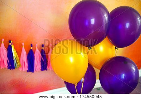 Beautiful decoration for birthday party. concept carnival