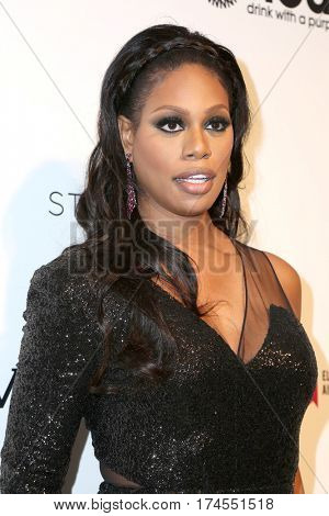 LOS ANGELES - FEB 26:  Laverne Cox at the 25the Annual Elton John Academy Awards Viewing Party at the  City of West Hollywood Park on February 26, 2017 in West Hollywood, CA