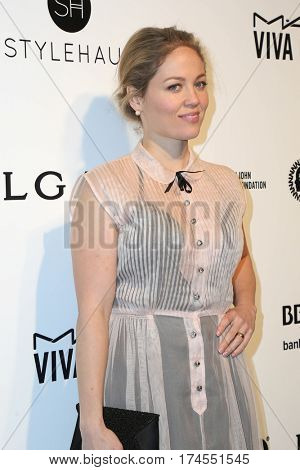 LOS ANGELES - FEB 26:  Erika Christensen at the 25the Annual Elton John Academy Awards Viewing Party at the  City of West Hollywood Park on February 26, 2017 in West Hollywood, CA