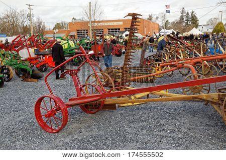 STRASBURG PENNSYLVANIA - February 25 2017: Annual spring auction