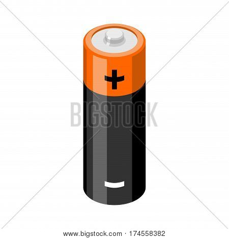 Battery Isolated. Accumulator On White Background. Power Supply