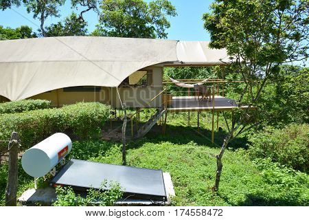 Galapagos Safari Camp Tent And Solar Panel