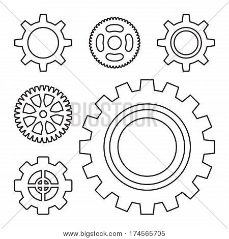 Gear Or Cog Icon  Illustration