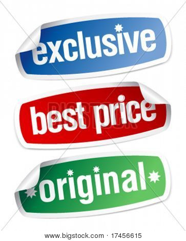 Set of stickers for exclusive sales under the best price