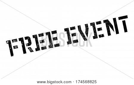 Free Event rubber stamp. Grunge design with dust scratches. Effects can be easily removed for a clean, crisp look. Color is easily changed.