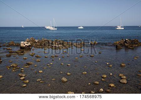 Beautiful Mediterranean Coast Antibes Cote d'Azur France
